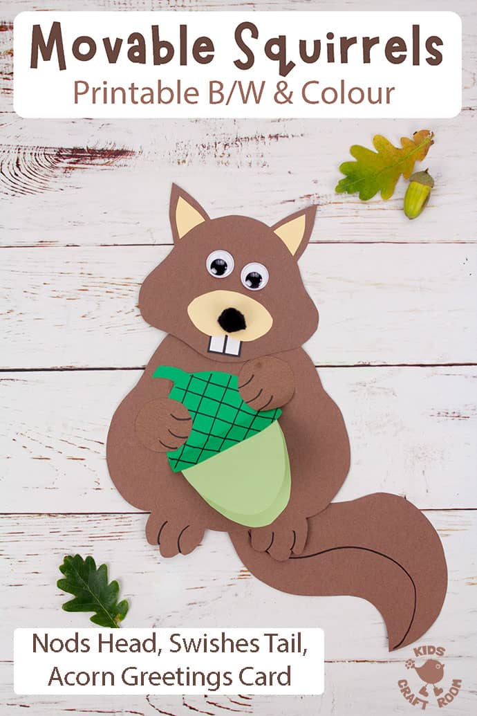Easy Movable Squirrel Craft pin 4