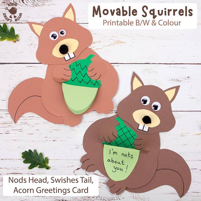 Easy Movable Squirrel Craft pin 2