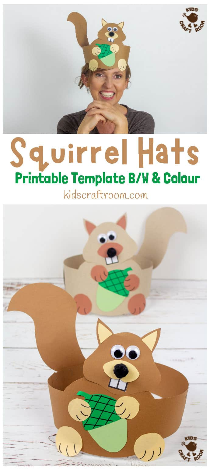 Squirrel Hat Craft pin image 1