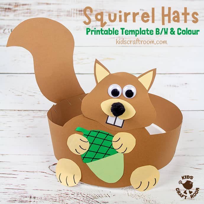 Squirrel Hat Craft pin image 2