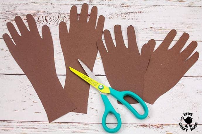 Textured Handprint and Paper Plate Reindeer Craft step 2