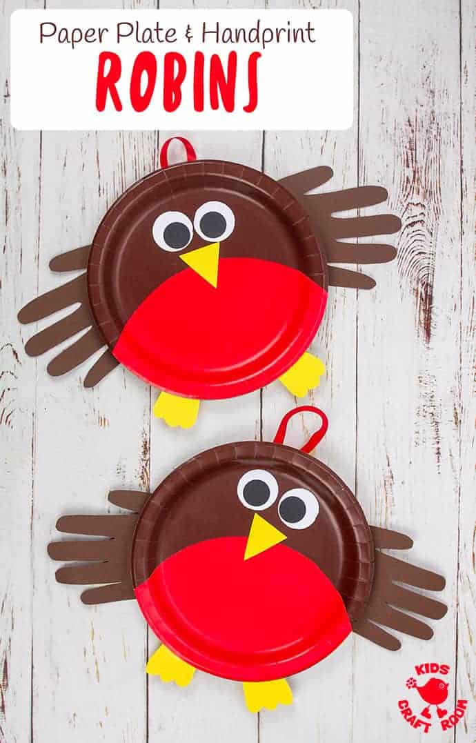 Paper Plate Robin Craft pin 4