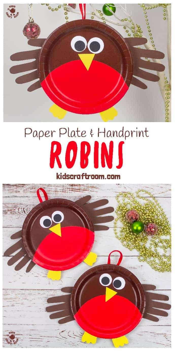 Paper Plate Robin Craft Pin Image 1