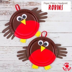 Paper Plate Robin Craft