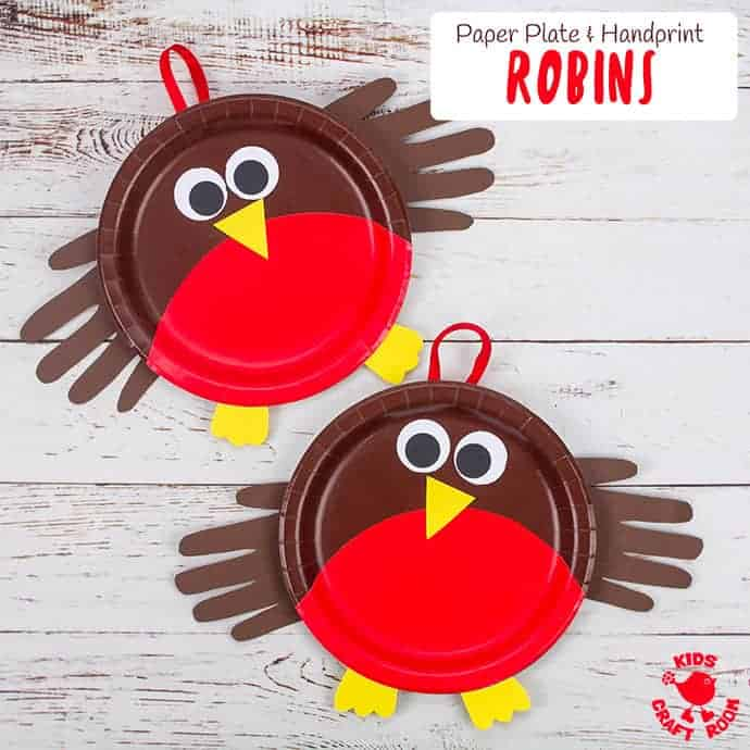 Paper Plate Robin Craft Pin Image 2