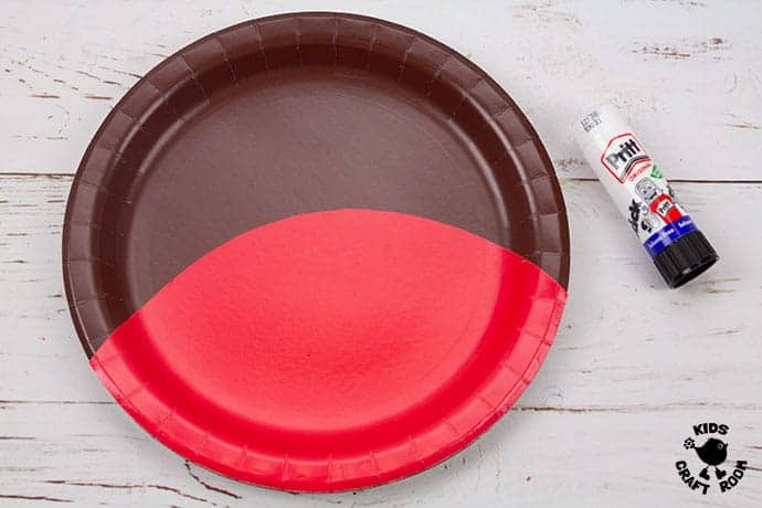 Paper Plate Robin Craft step 2