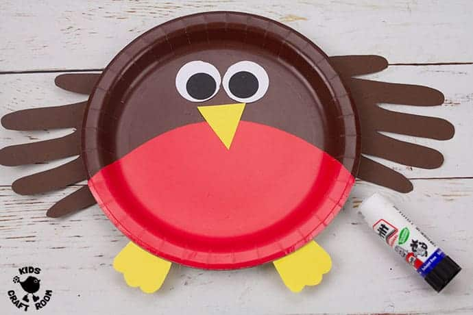 Paper Plate Robin Craft step 7