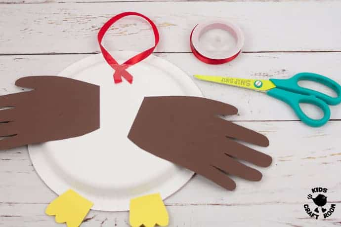 Paper Plate Robin Craft step 8