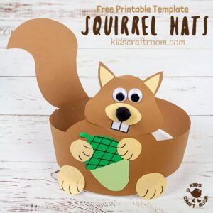 Printable Squirrel Hat Craft