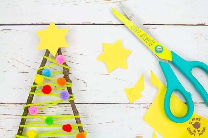 Yarn And Twig Christmas Tree Craft step 6