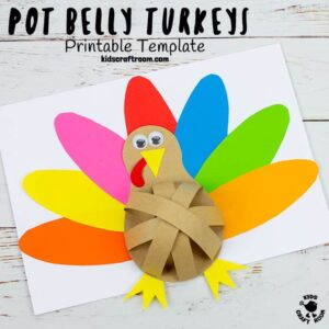 Pot Belly Paper Turkey Craft