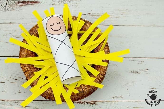Baby Jesus In A Manger Craft step 7
