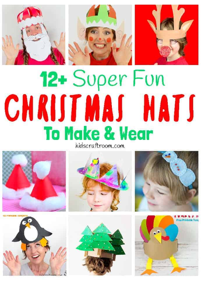 Christmas hats to make and wear pin 1