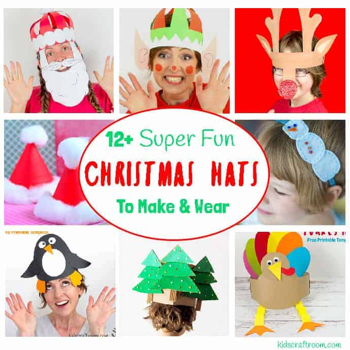 Christmas hats to make and wear pin 2