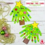 Handprint Christmas Tree Cards