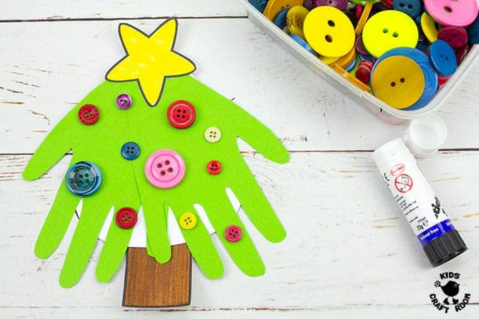 Handprint Christmas Tree Cards step 9