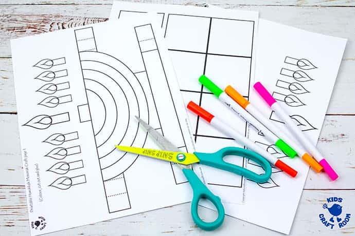 3D Hanukkah Menorah Craft step 1