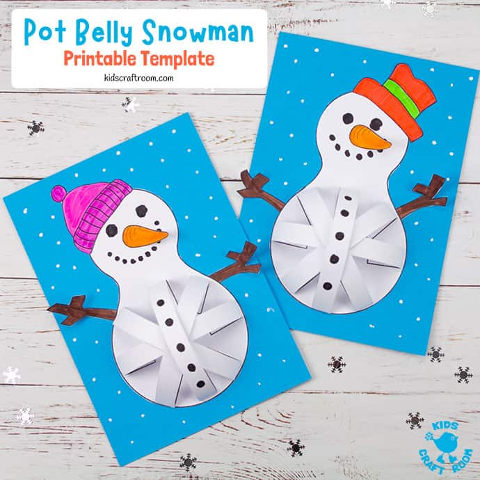 3D Paper Snowman Craft pin image 2