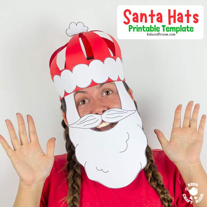 3D Paper Santa Hat Craft pin 3