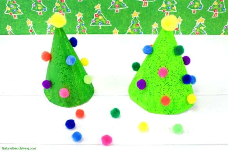 Easy Paper Plate Christmas Tree for Preschoolers