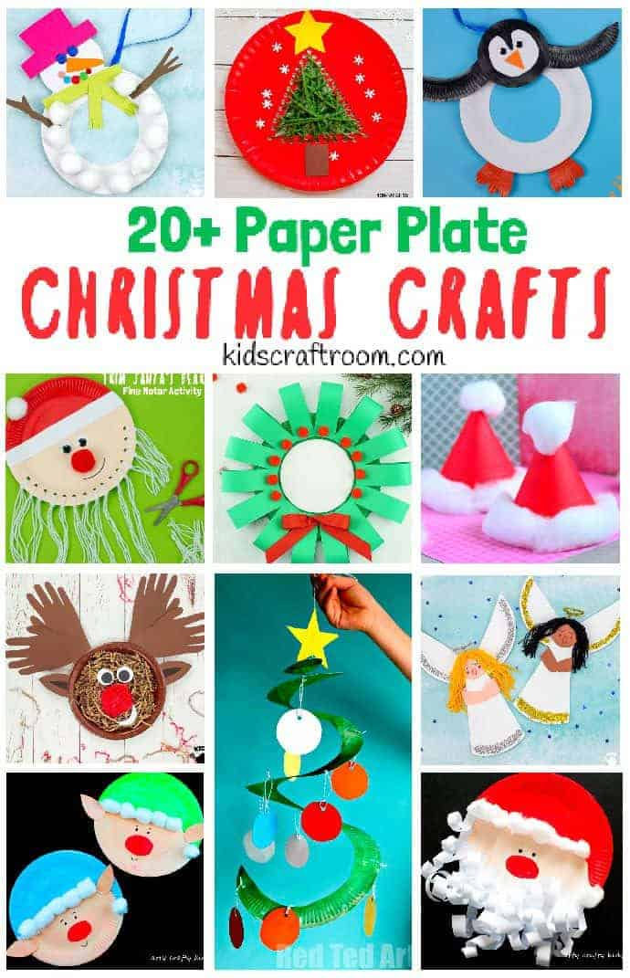 Paper Plate Christmas Crafts Pin 2