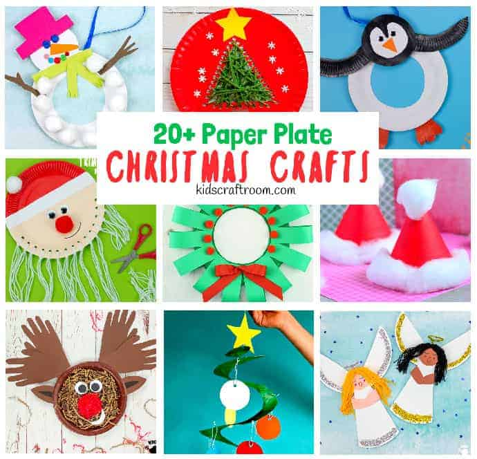 Paper Plate Christmas crafts pin 1