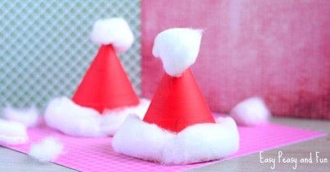 Paper Plate Santa Hats
