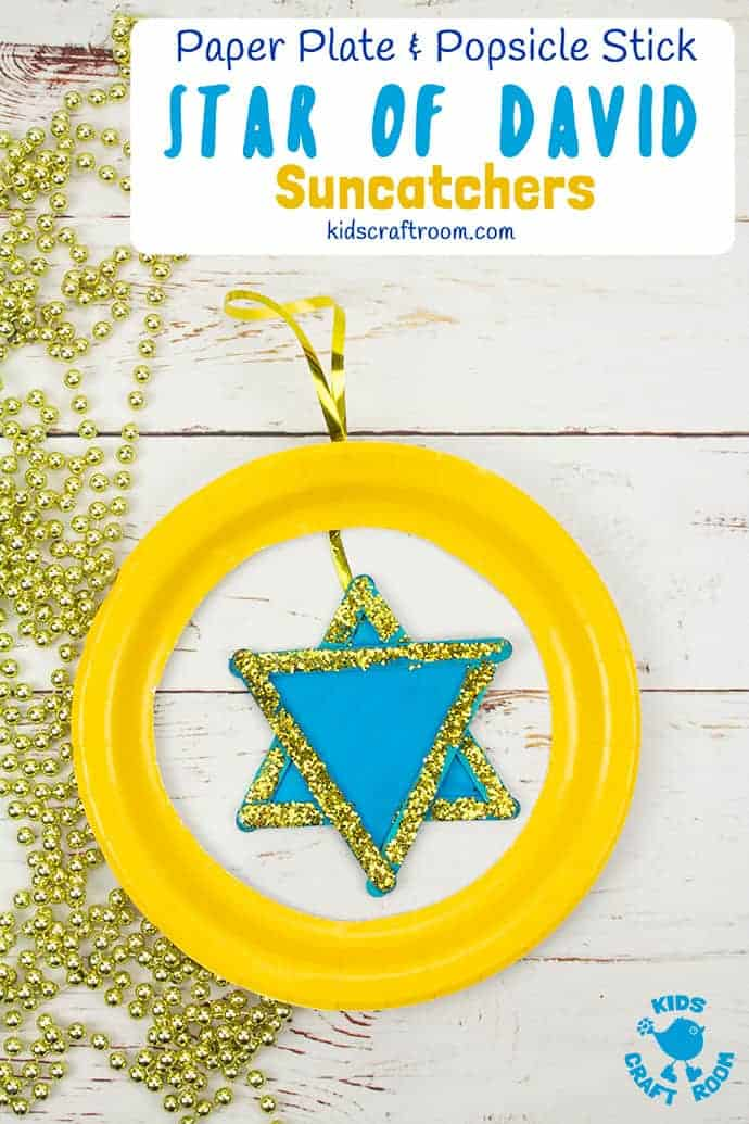 Pretty Star of David Suncatcher craft pin 3