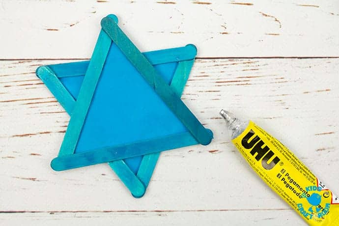 Pretty Star of David Suncatcher craft step 5