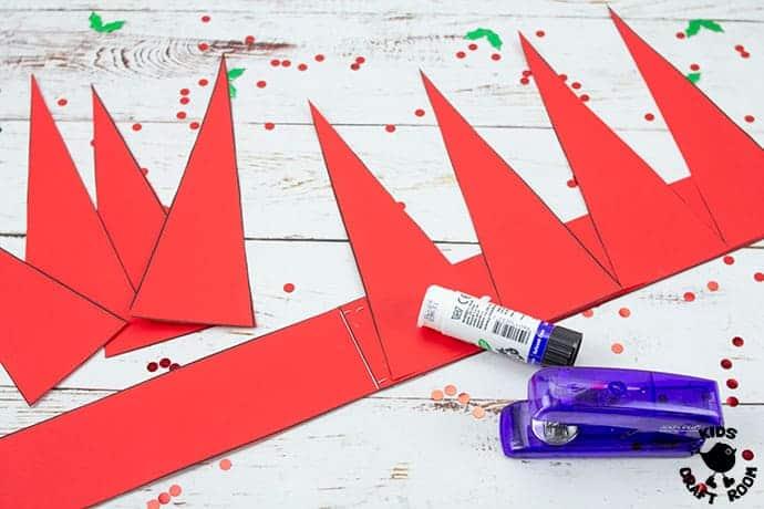 Santa Hat Craft step 4