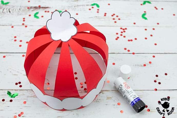 Santa Hat Craft step 7