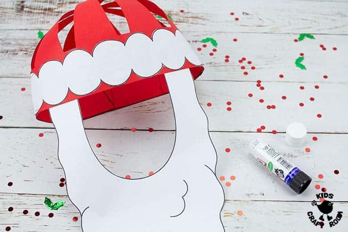 Santa Hat Craft step 8