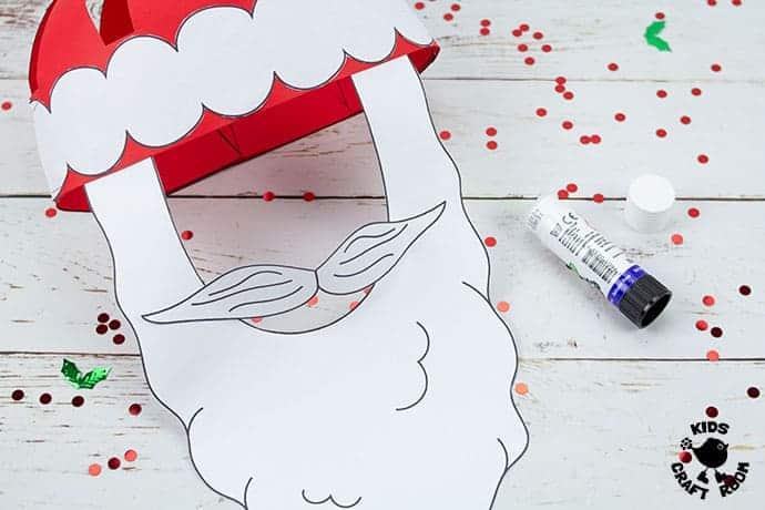 Santa Hat Craft step 9