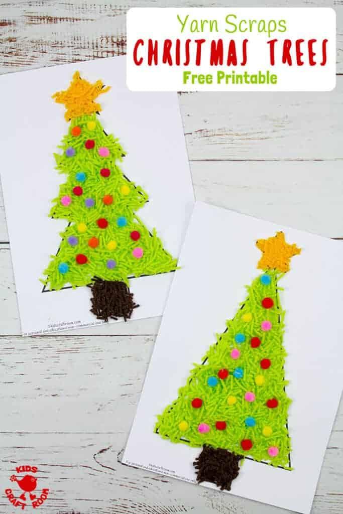 Scrap Yarn Christmas Tree Craft Kids Craft Room
