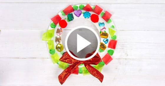 Easy Paper Plate Wreath