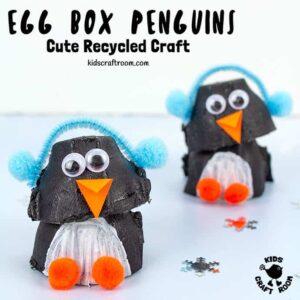 Egg Box Penguin Craft
