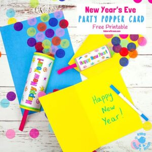New Year's Eve Party Popper Craft
