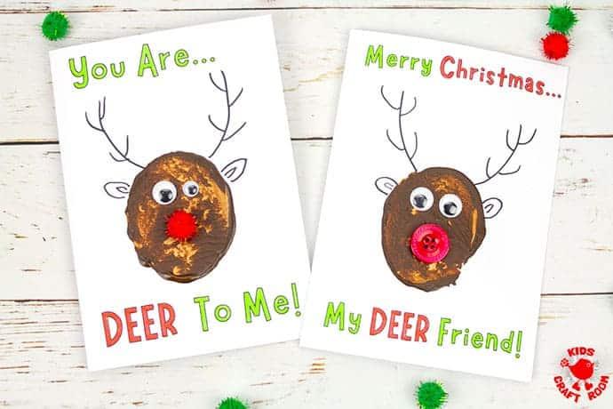 Potato Print Reindeer Christmas Cards pin 5