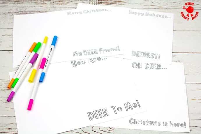 Potato Print Reindeer Christmas Cards step 1