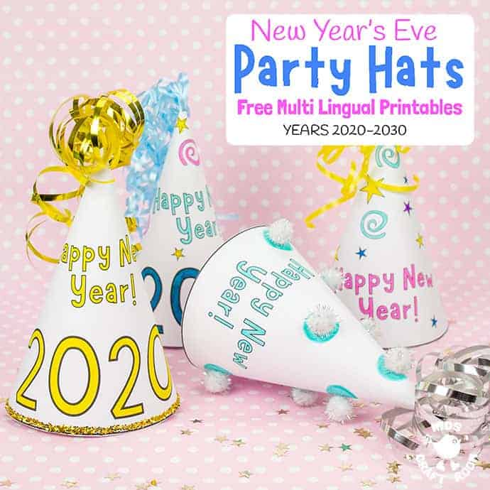 Printable New Year's Eve Party Hats