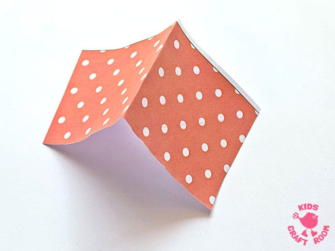 3D Paper House Craft step 7