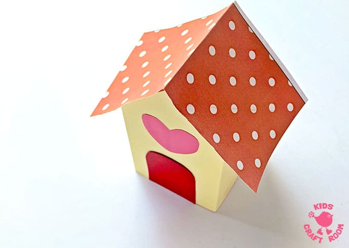3D Paper House Craft step 8