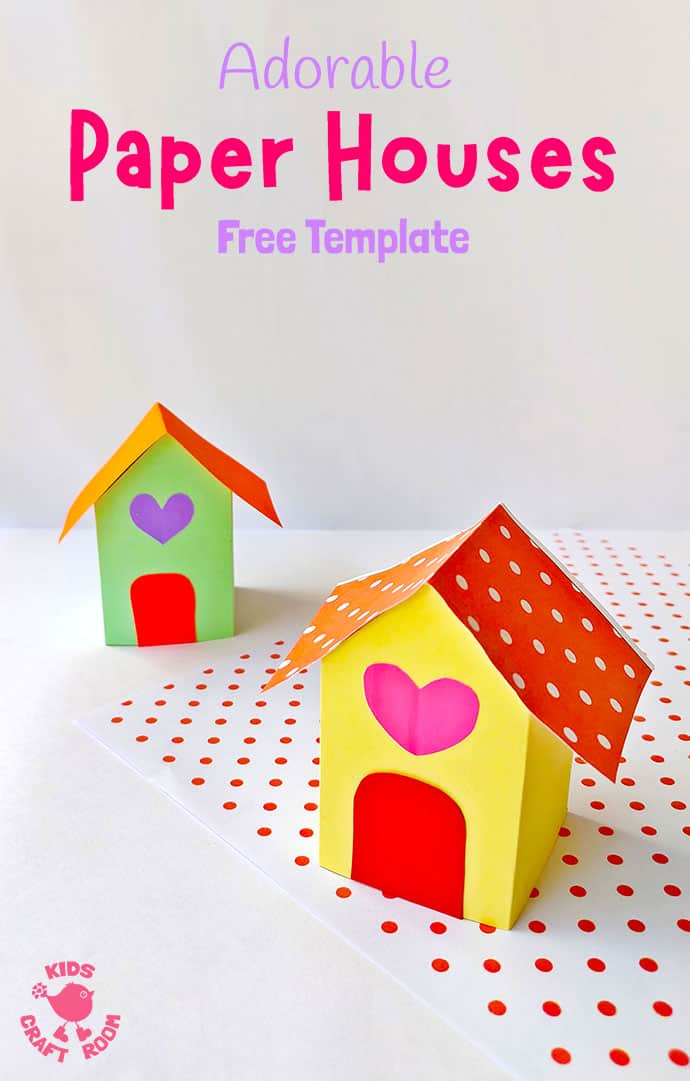 3D Paper House Craft pin 1