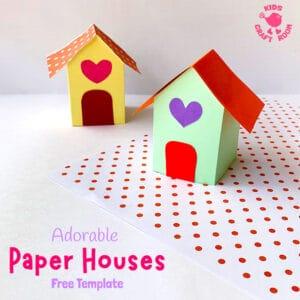 3D Paper House Craft