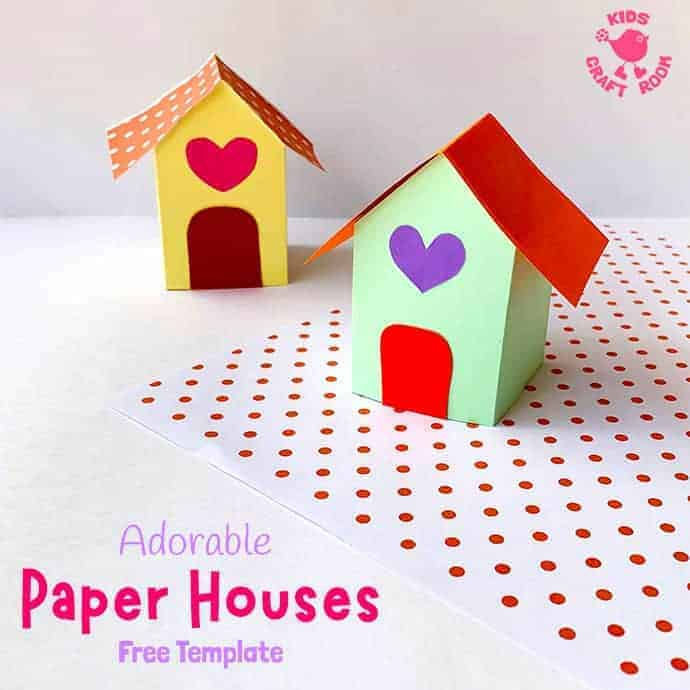 3D Paper House Craft pin 2