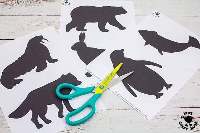 Arctic Animal Suncatcher Craft step 1