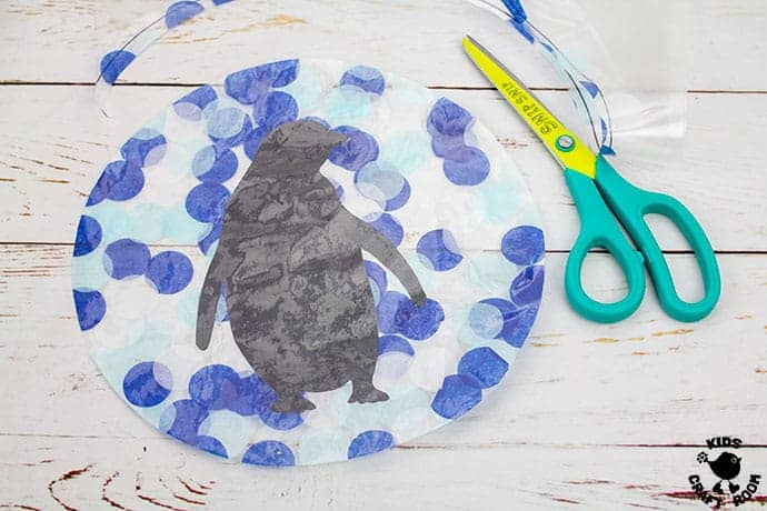 Arctic Animal Suncatcher Craft step 6