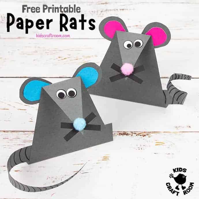 Easy Paper Mouse Craft