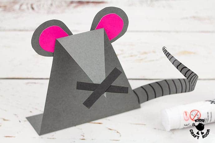 Paper Mouse Craft step 8