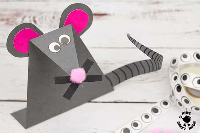 Paper Mouse Craft step 9